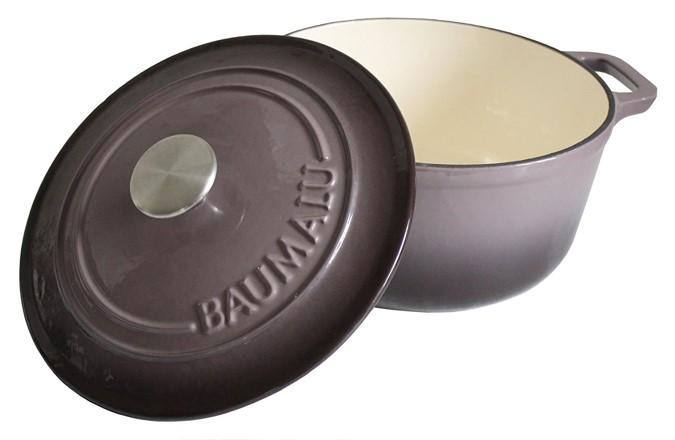 cocotte en fonte Baumalu prune